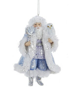 "KURT ADLER HAND PAINTED FROSTED KINGDOM 5"" RESIN SANTA CHRISTMAS ORNAMENT B - $14.88"