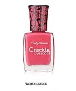 Set of 4 Sally Hansen Crackle Overcoat Nail Polish 04 Fuchsia Shock Pink - $15.99
