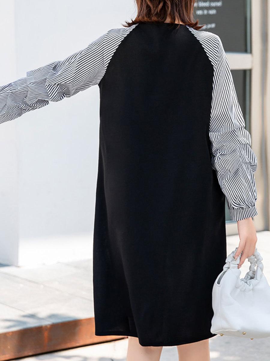 Maternity's Dress V Neck Long Sleeve Creative Design Ladylike Faddish Dress image 5