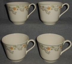 Set (4) Royal Doulton Nicole Pattern Handled Cups (No Saucers) Made In England - $19.79