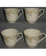 Set (4) Royal Doulton NICOLE PATTERN Handled Cups (No Saucers) MADE IN E... - $19.79