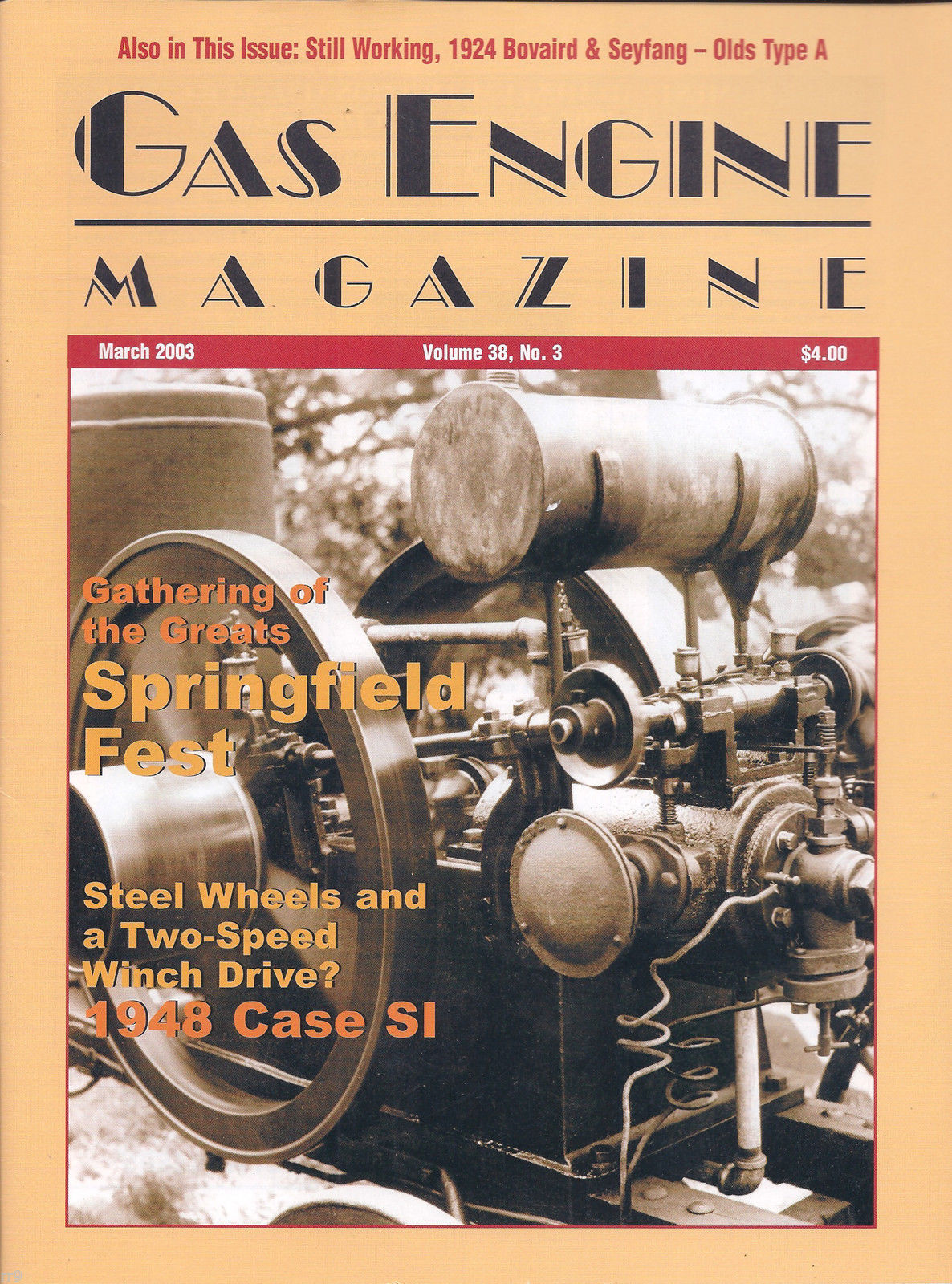 Primary image for Gas Engine Magazine March 2003 Volume 38, No. 3