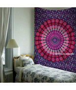 Twin Size Hippie Tapestries Bedspread Mandala Wall Tapestry Wall Hanging... - $21.76