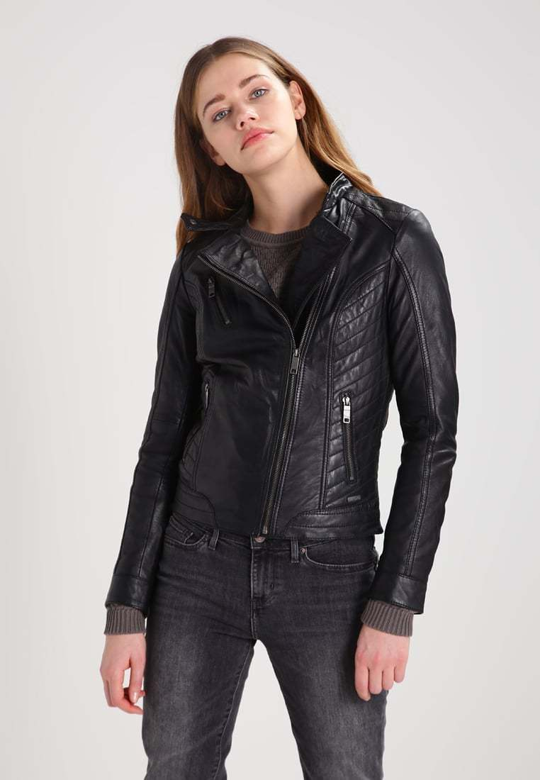 Women's Leather Motorcycle 100% Biker Jacket Real Genuine Soft Lambskin -98