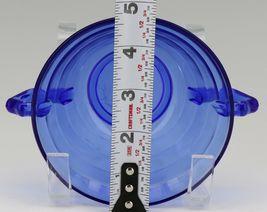 Hazel Atlas Cobalt Blue Moderntone Depression Glass Cream Soup image 3