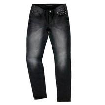 Rock & Republic Women's Sz 4 Grey Black Faded Embellished Stud Berlin Sk... - $34.00