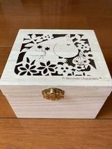 Moomin wood empty box rare 2017 wood box - $30.00