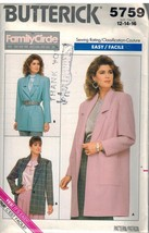 5759 Vintage Butterick SEWING Pattern Misses Loose Fitting Unlined Jacke... - $4.91