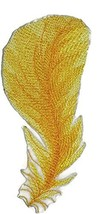 Custom and Unique Fancy Feather Collection[Yellow Bird Feather ] Embroid... - $6.92