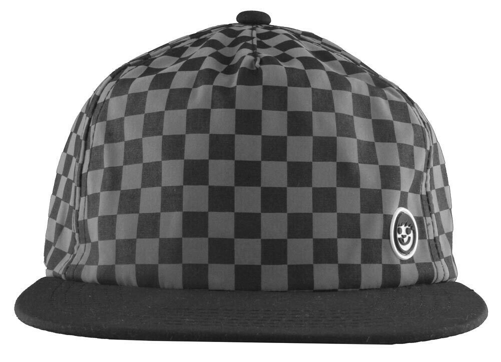 Neff Mens Black/Grey Bogie Checker Adjustable Snapback Hat Cap One Size NEW