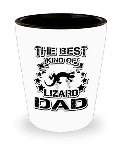 Lizard Dad Shot Glass Coffee Tea Cup Funny Birthday Gifts for Daddy Papa Pet Lov image 1
