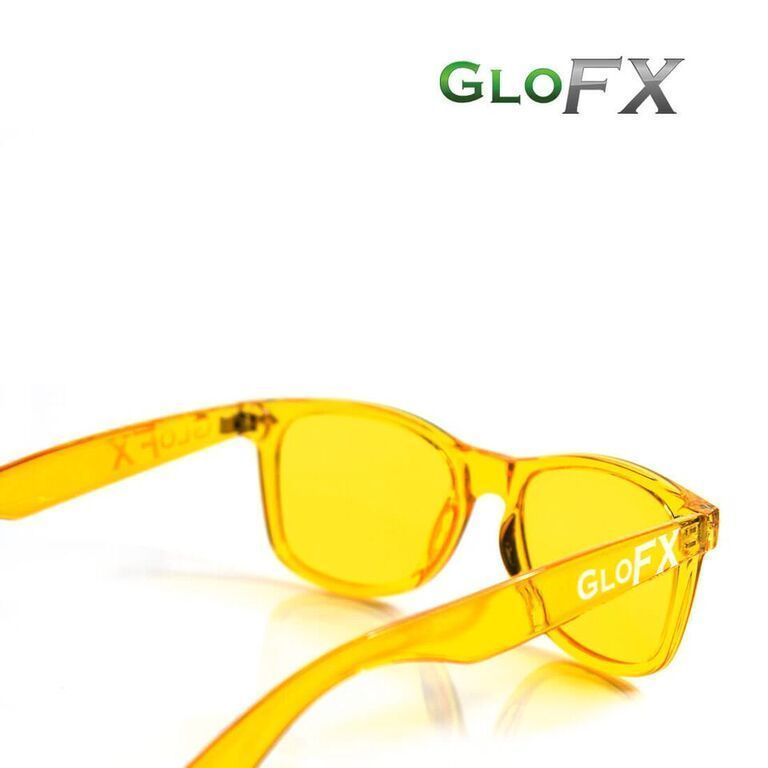 7d45d6b28b4 GloFX Yellow Color Therapy Glasses Chromatherapy Glasses Feeling of  Cheerfulness