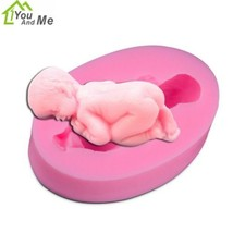 DIY 3D Cute Sleep Baby Shapes Mold Silicone Rubber Sugar Craft Fondant M... - ₨190.40 INR
