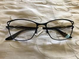 ELLA Laguna Beach Eyeglasses Eyeglass Frames Metallic Matt Blue 701062 - $199.95