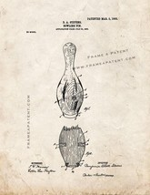 Bowling Pin Patent Print - Old Look - $7.95+
