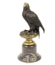 Antique Home Decor Bronze Sculpture shows an Eagle, signed * Free Air Sh... - $259.00