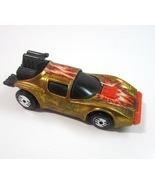 Vintage 1983 Mattel Hot Wheels Metallic Gold FLAME RUNNER 1:64 Scale Die... - $7.99