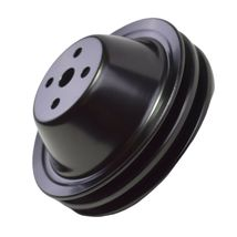 Short Water Pump Pulley SWP Double-Groove For Small Block Chevy SBC 262 327 400 image 8