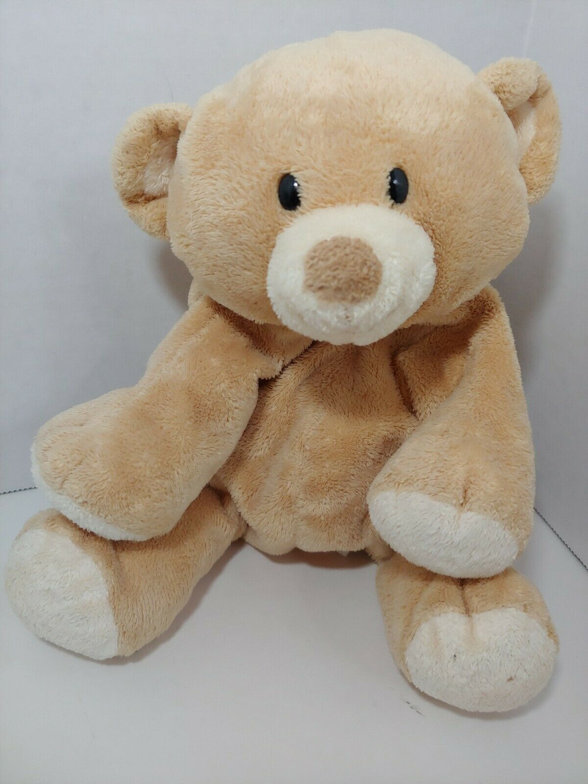 Primary image for Ty Pluffies Woods Tan cream Teddy Bear bean bag stuffed animal 2010 TyLux