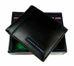 Tommy Hilfiger Men's Leather Credit Card Wallet Billfold Black 5675-01 image 1