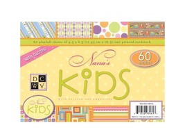 DCWV Nana's Kids Glittered and Embossed Mat Stack Cardstock #MS-003-00016