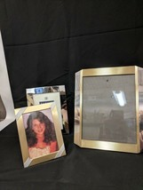 LOT OF 3 VINTAGE BURNES OF BOSTON BRASS METAL PHOTO FRAMES 8X10 5X7 6X4 - $29.69