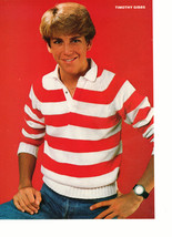 Timothy Gibbs Rob Lowe teen magazine pinup clipping red and white sweate... - $3.50