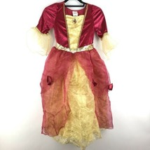 Disney Princess Girls Sz 10 Beauty and the Beast Red Belle Fancy Dress C... - $30.84