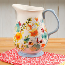 NEW 2017 The Pioneer Woman Willow Floral 3.2 Quart Pitcher Vase Kitchen ... - $27.71