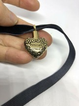 Vintage Golden Stainless Steel Heart Perfume Bottle Pendant Necklace - $39.60