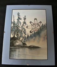THE SUN by SUE COLEMAN 8 X 10 Matted Serigraph Print Native Art - $38.79