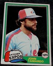 John Tamargo, Expos 1981 Topps Card, VG COND - $0.99