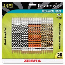 Zebra Pen Cadoozles Animal Print Mechanical Pencils - 784 per pack - $13.49