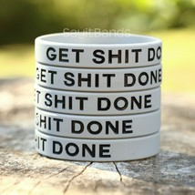 Set of GET SH** DONE Silicone Bracelet Design - Wholesale Wristband Band... - $4.93+