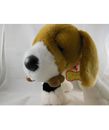 """Build a Bear plush Beagle dog 10"""" X 19"""" with bone and sound box Excellent - $15.83"""