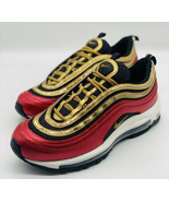 NEW Nike Air Max 97 University Red Metallic Gold CT1148-600 Women's Size 8 - $128.69