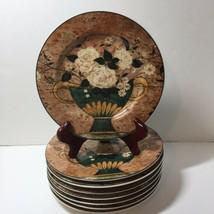 "Set of 4 Salad Plates White Roses Warren Kimble Sakura 8.25"" - $14.50"