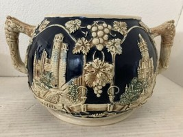 Wick Werke Stoneware Pottery Cobalt Blue Tureen Punch Bowl Germany - $27.69