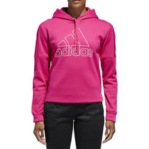ADIDAS DH8187 Team Issue Badge of Sport Active Sport HOODIE Real Magenta... - $60.20
