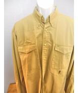 Tommy Hilfiger Shirt Long Sleeve  Khaki XL  100% Cotton - $23.40