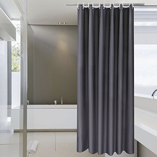 aoohome stall shower curtain 36 x 72 inch solid fabric bathroom curtain for hot shower. Black Bedroom Furniture Sets. Home Design Ideas