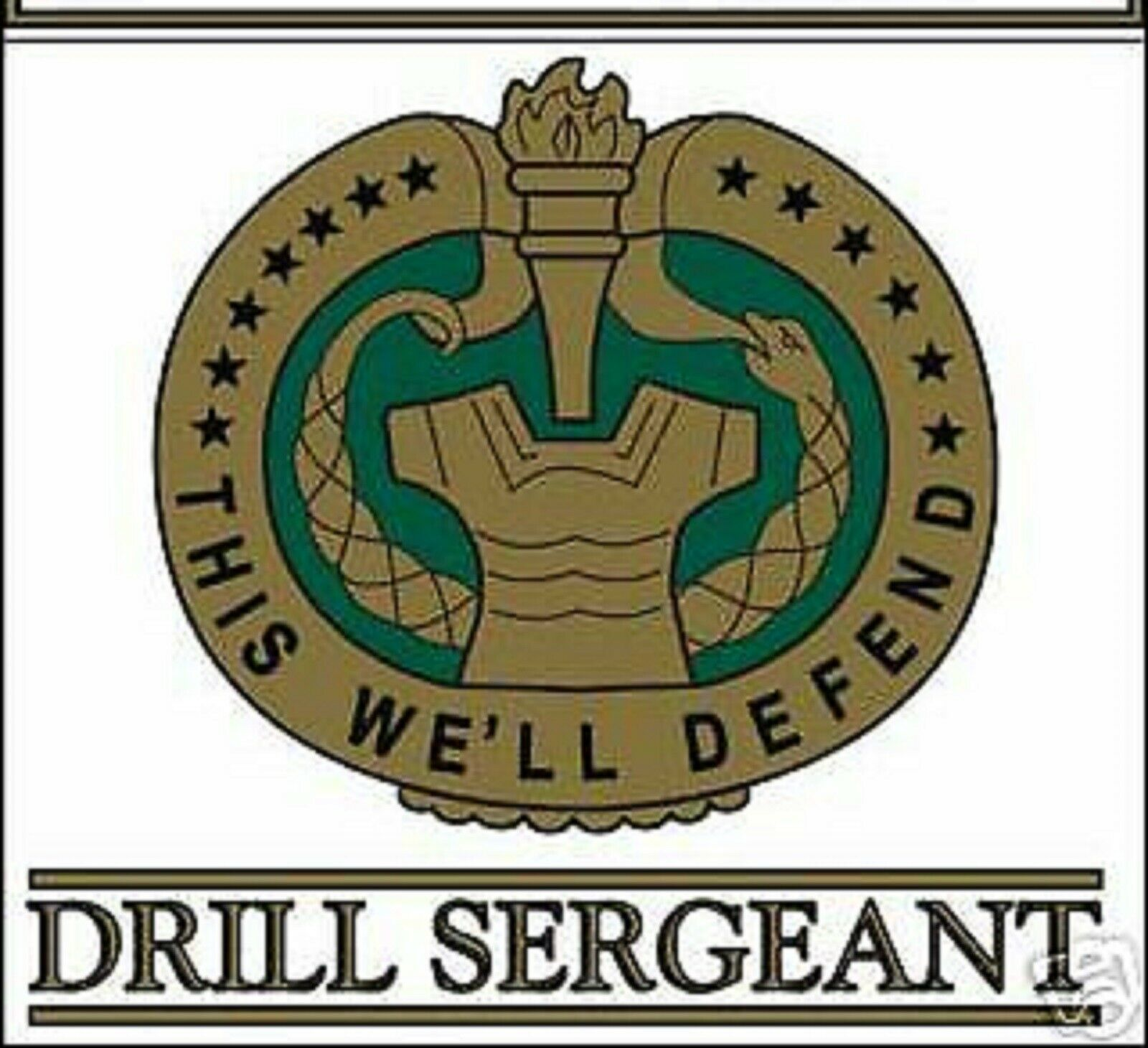 "Primary image for US ARMY DRILL SERGEANT DI CAR WINDOW 5"" STICKER DECAL"