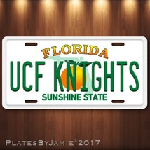 UCF KNIGHTS  Aluminum License Plate Tag New University of Central Florida  - $12.99