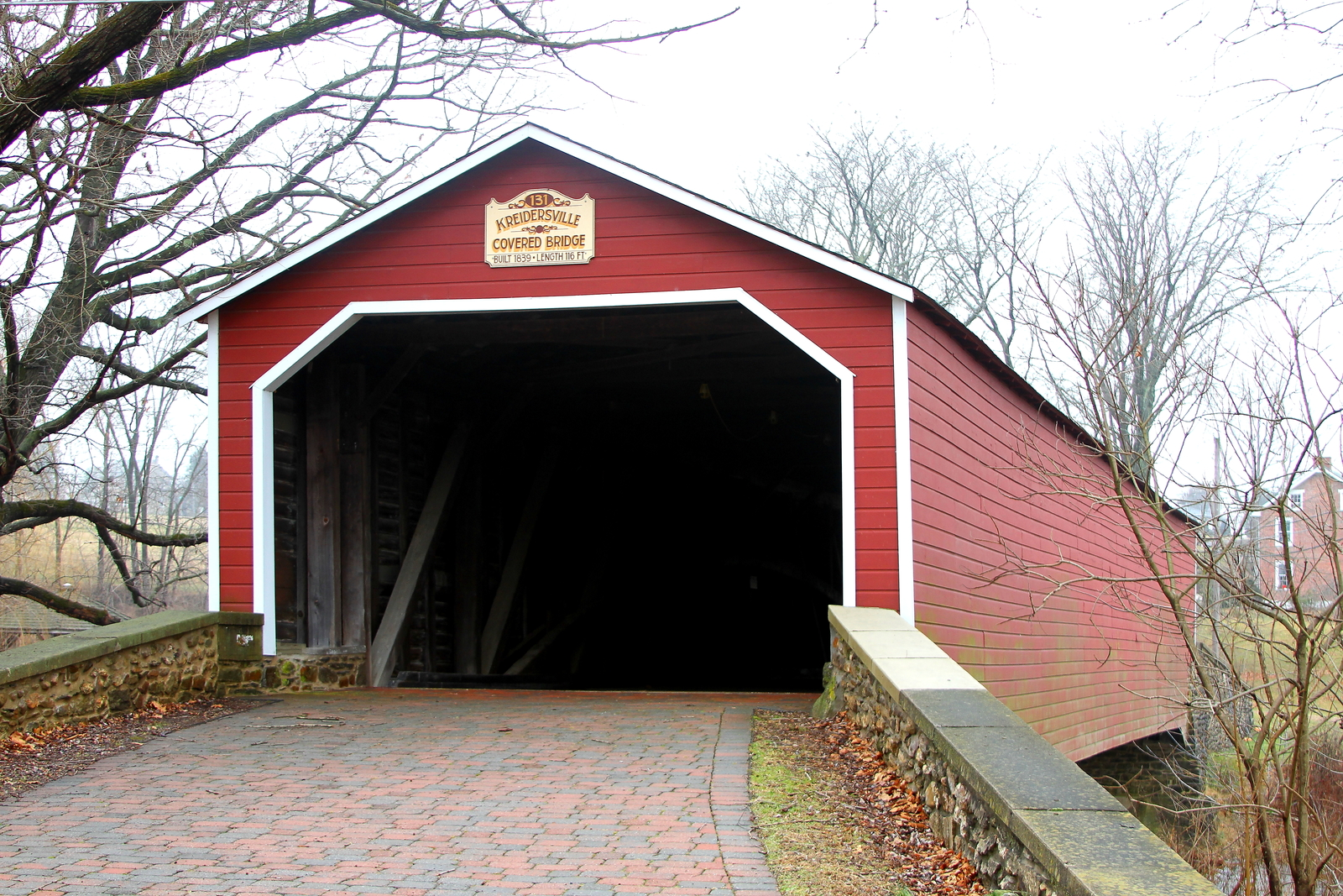 Primary image for Kreidersville Covered Bridge 13 x 19 Unmatted Photograph