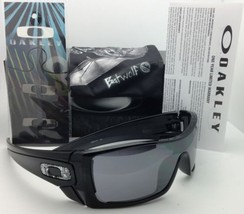Authentic Oakley Sunglasses BATWOLF OO9101-01 Black Ink Frame Black Iridium Lens