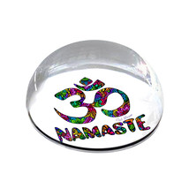 "Namaste Om Illustration 2"" Crystal Dome Magnet or Paperweight - $15.99"