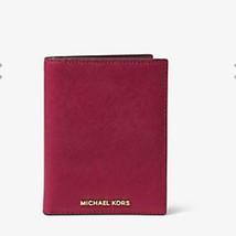 Michael Kors Cherry Jet Set Travel Saffiano Leather Set Wallet,NWT$108 - £77.06 GBP
