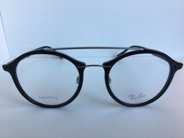 New Ray-Ban RB 1171  2000 LightRay 51mm Rx Round Black Eyeglasses Frames - $134.99