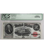 1917 $2 Legal Tender Fr#60 PCGS Currency GEM NEW 65PPQ Rare Bank Note - £976.30 GBP