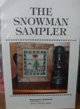"Cross Stitch Pattern 4"" x 4.5"" ""The Snowman Sampler""  - $3.99"